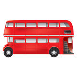 London symbol  -  red bus  -  isolated Royalty Free Stock Image