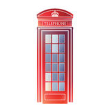 London symbol  -  Red telephone box icon – Colorful booth Stock Images