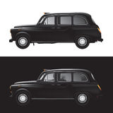 London-Symbol - schwarzes Fahrerhaus - getrennt Stockbilder
