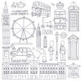 London symbols. Royalty Free Stock Photos