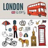 London symbols. Set of drawings. Stock Photo