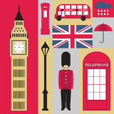 London symbols. Set of London symbols. 9 icons Royalty Free Stock Images
