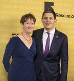 Louise Shakelton and David Miliband. London Symphony Orchestra violinist Louise Shakelton and her husband, David Miliband, a former British Labour Party Royalty Free Stock Photos