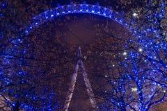 London synar på natten Arkivbilder