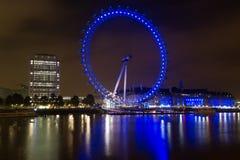 London synar på natten Fotografering för Bildbyråer
