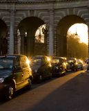 London taksówki Obrazy Royalty Free