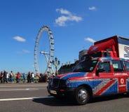 London taxar Fotografering för Bildbyråer
