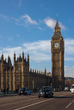 London taxi and Big Ben Stock Photos