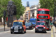 London taxi and bus Royalty Free Stock Image