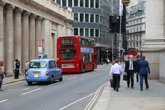 London taxi and bus Royalty Free Stock Photos