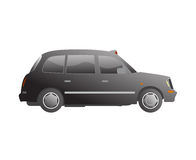 London taxi cab vector stock illustration