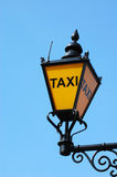 London taxi lamp Stock Photography