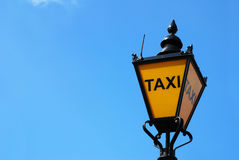 London taxi lamp Stock Photo