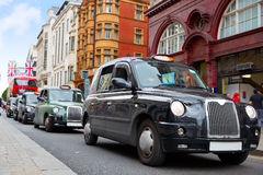 London Taxi at Oxford Street W1 Westminster Stock Images