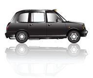 London taxi shadow Royalty Free Stock Images