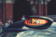London Taxi Sign Stock Photo