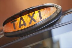 London taxi sign close up Royalty Free Stock Photography