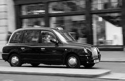 London Taxi at Speed stock images