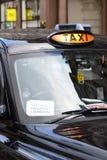 London-Taxi-Streik Stockfotografie