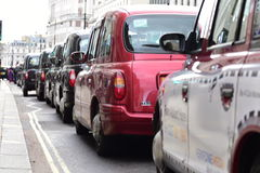 London Taxi Strike. 10th February 2016 Royalty Free Stock Photography