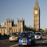 London Taxi on Westminster Bridge Royalty Free Stock Images