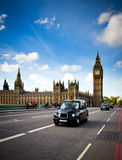 London taxi in westminster Stock Photo