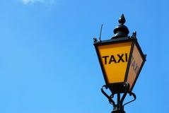 London taxilampa Arkivfoto