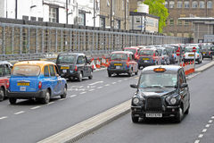 London Taxis Royaltyfri Foto