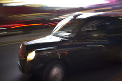 London taxitaxi Arkivfoto
