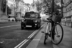 London taxitaxi Arkivbilder