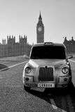 London taxitaxi Arkivfoton