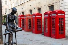 London telefonaskar Royaltyfria Bilder