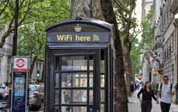 London telefonbås arkivfoto