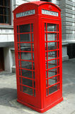 London Telephone. Famous red street telephone of london stock photography