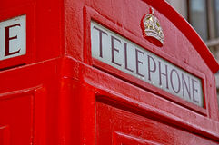 London telephone booth. Red and famous london telephone booth Stock Photos