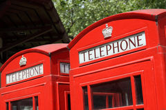 London telephone booth. Red and famous london telephone booth Royalty Free Stock Photo