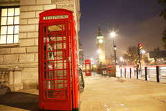 London Telephone Booth and Big Ben Stock Images