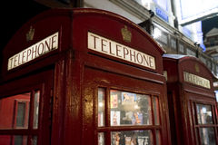 London Telephone Booth at night London UK Stock Images