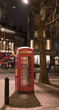 London Telephone Booth at night London UK. London Telephone Booth at night London England- United Kingdom Stock Photos