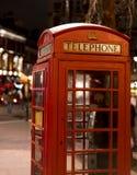 London Telephone Booth at night London UK Royalty Free Stock Photo