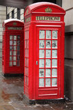 London telephone booth in winter Royalty Free Stock Image