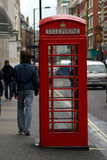 London Telephone box. A traditional british red telephone box in London royalty free stock photography