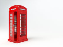 London telephone box. Rendering of a red london telophone box Royalty Free Stock Photography