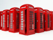 London telephone box. Rendering of a red london telophone box Stock Photography