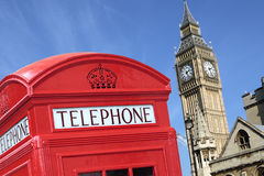 London telephone box big ben Royalty Free Stock Photos