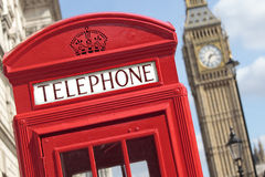 London telephone box big ben Stock Image