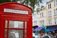 London telephone box inPortobello road UK Stock Photos