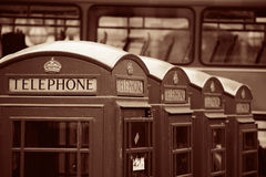 London Telephone box Stock Images