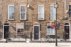 London Terrace Houses Stock Photography