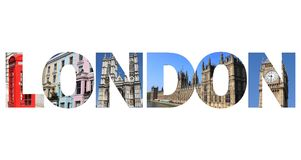 London text Stock Photography
